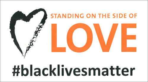 The UUCRT SUPPORTS THE BLACK LIVES MATTER MOVEMENT